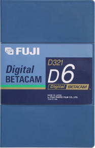 Fuji Digital Betacam 6 Minute Blank Video Tape