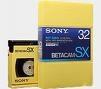 Sony Betacam SX 62 Minute Small Shell Blank Video Tape