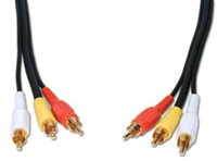 Comprehensive 50' General Purpose 3 RCA Video Cable