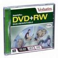 Verbatim DVD+RW 4X Blank Disc