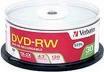 Verbatim DVD-RW 2X 4.7GB Branded Discs, 30 Per Spindle