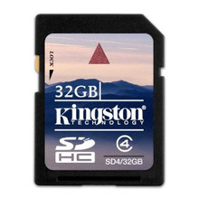 Kingston 32GB SDHC Memory Card