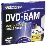Memorex DVD-RAM 4.7GB Disc, 1 Per Pack