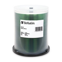 Verbatim CD-R 80 Minutes, Silk Screenable,100 per Spindle