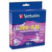 Verbatim DVD+R 8.5gb discs, 10pk