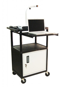 Luxor Audio Visual Cart with Cabinet