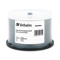 Verbatim CD-R 80 Minute White Thermal Hub Printable Discs
