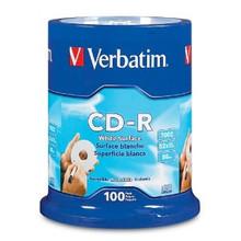 Verbatim CD-R 80 Minute Non-Printable Discs, 100 per Spindle