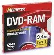 Memorex Double-sided DVDRAM 9.4 GB 1 Per Pack