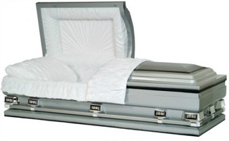 "Majestic Silver Shaded Ebony Finish 36"" Oversize Caskets"