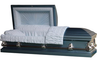 Gemini Monarch Blue Casket - Metal Casket