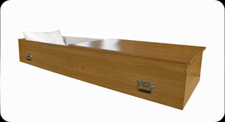 Solid Wood Casket Oak Finish (Unassembled)