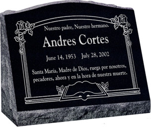 Slant Headstone - 4 Sizes - 10 Color Choices - Starting at $874!