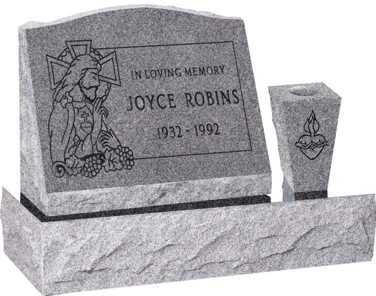 Slant Headstone With Base And Vase 10 Color Choices Starting At