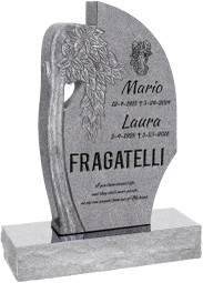 "Olive Tree Headstone with 34"" Base - Polished All Sides - 10 Color Choices - Starting at $2299"