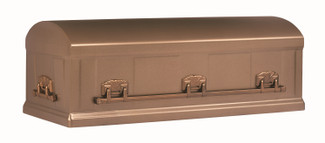 Burnished Bronze Burial Vault - 12 Gauge Steel