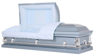 Economy Monarch Blue Casket - Metal Casket
