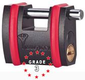 Mul-t-lock SBNE10 Padlock w/ 10mm Sliding Bolt Grade 3