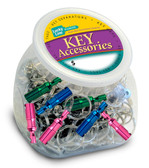Colored Quick Release Key Rings-75/jar, Assorted
