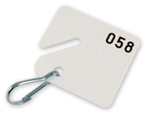 Numbered Square Slotted Cabinet Tags 20 qty
