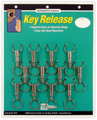 Quick Release Key Rings 12/ Card