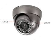 Vandalproof IR Dome Camera, IR LED: 5X36PCS, IR LED working distance: 30M, 4-9mm Manual Zoom Lens