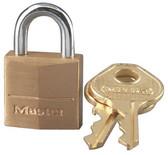 """Master Lock 120KAD 3/4"""" Brass Padlock"""