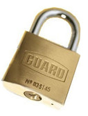 "Guard Brass Padlock 1-¾ ""(45mm) BODY 1""SHACKLE"