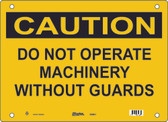 Guardian Extreme S5800 Caution Sign