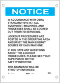 Guardian Extreme S21750 Notice Sign