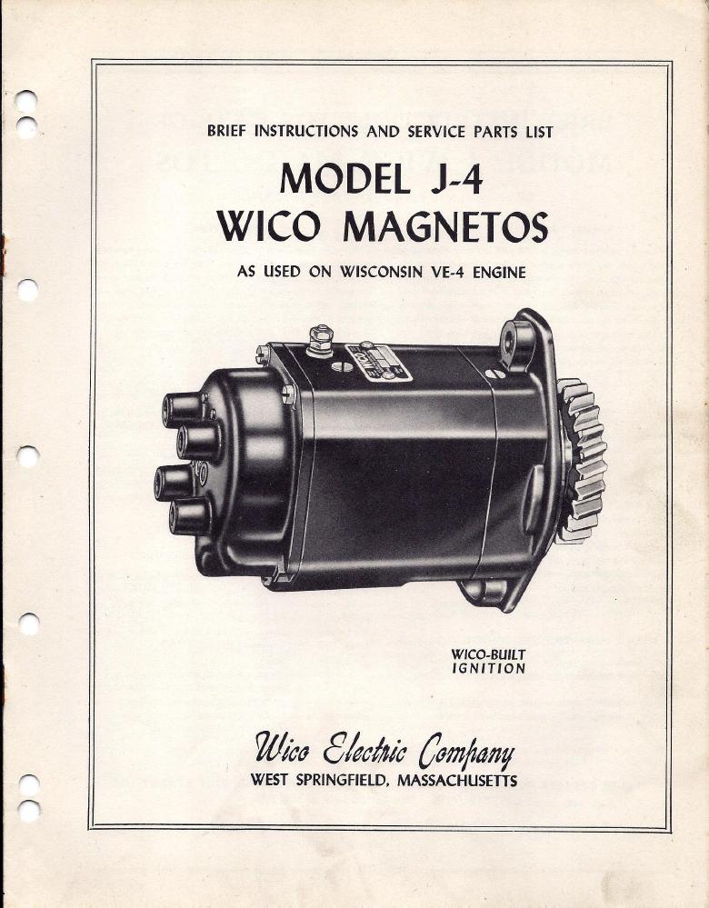 Wico J4 Magneto Manual