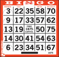 1on Pushout Diecut Bingo Paper 750 per bundle