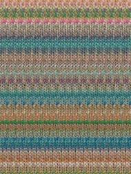 Noro - Kibou #8 - (Turquoise, Orange, White)