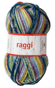 Aalta Raggi Yarn - Multi - Navy, Green, Denim # 15128