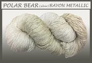 Blue Heron - Rayon Metallic - Polar Bear w/Silver