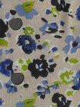 Circulo - Tecido Trico Floral-  Tan w/blue floral #265