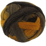 Schoppel- Zauberball - Dark brown and Orange #2135