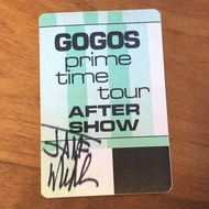 VINTAGE Go-Go's PRIME TIME 1984 After Show Backstage Pass - Autographed