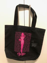 Jane Wiedlin Go-Go's Girl of 100 Lists Tote Bag