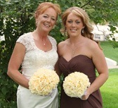 Butter Yellow Silk Rose Hand Tie (3 Dozen Roses) - Bridal Wedding Bouquet