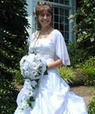 Daisy Silk Rose Cascade - Bridal Wedding Bouquet