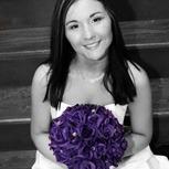 Purple Silk Rose Hand Tie (3 Dozen Roses) - Bridal Wedding Bouquet