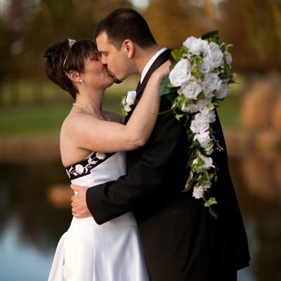 White Silk Rose Cascade - Bridal Wedding Bouquet