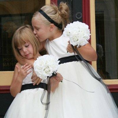 White Silk Rose Toss Bouquet - 1 Dozen Silk Roses - Bridal Wedding Bouquet