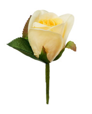 Yellow Silk Rose Boutonniere - Groom Boutonniere Prom