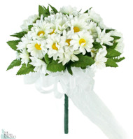 Daisy Silk Hand Tie Small - Bridal Wedding Bouquet