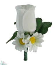 Daisy Rose Silk Boutonniere