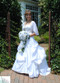 Daisy Silk Rose Cascade - Silk Bridal Wedding Bouquet