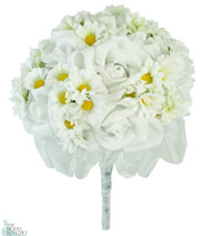Daisy Rose Silk Hand Tie - Bridal Wedding Bouquet