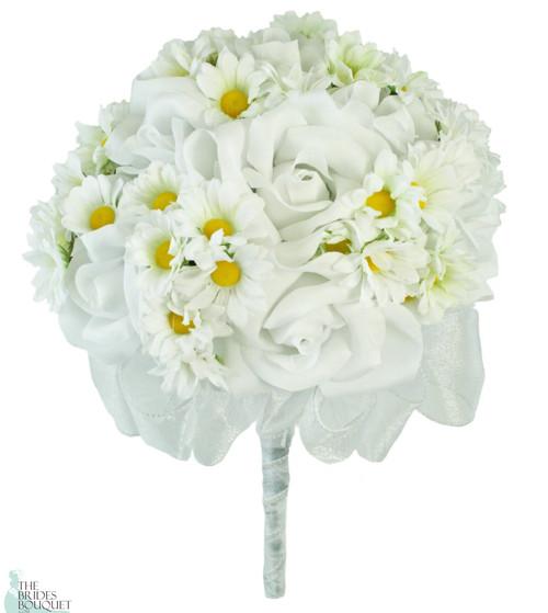 Daisy Rose Silk Hand Tie - Bridal Wedding Bouquet